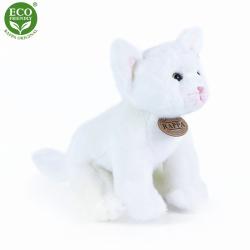 Obrázek Plyšová kočka bílá sedící 24 cm ECO-FRIENDLY