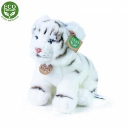 Obrázek Plyšový tygr bílý sedící 25 cm ECO-FRIENDLY
