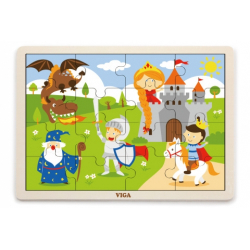 Obrázek Dřevěné puzzle 16 dílků - pohádka