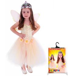 Obrázek karnevalový kostým víla květinka s křídly, vel. S