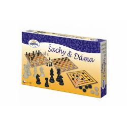 Obrázek Šachy a dáma dřevo společenská hra
