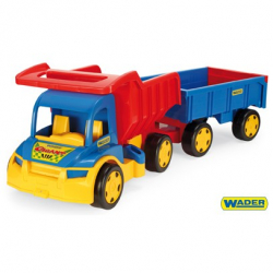 Obrázek Auto Gigant truck + dětská vlečka plast 55cm