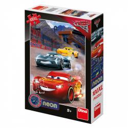 Obrázek Puzzle WD Cars3: Vítězné kolo 100XL neon