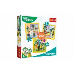 Obrázek Puzzle 3v1 Rodina Treflíků 20x19,5cm v krabici 28x28x6cm