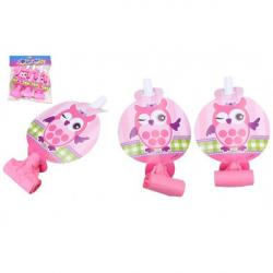 Obrázek Frkačky papírové 6ks růžové v sáčku karneval