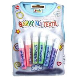 Obrázek Barvy na textil- perleťové, konturovací 6x7ml