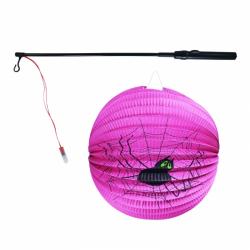 Obrázek Lampion pavouk Halloween 25 cm duch koule se svítící hůlkou 39 cm