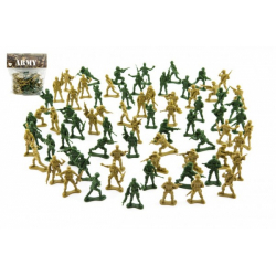 Obrázek Sada vojáci 2 barvy plast CZ design na kartě 18x19,5cm