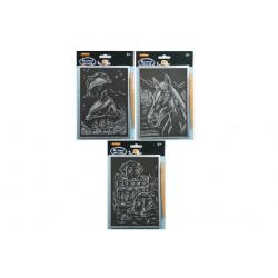 Obrázek Škrabací obrázek stříbrný - 14x22cm
