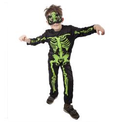 Obrázek karnevalový kostým kostlivec NEON dětský vel. S