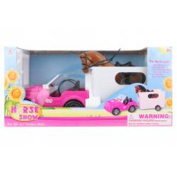 Obrázek Auto pro panenky s přívěsem a koněm