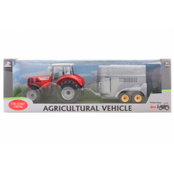 Obrázek Traktor s přívěsem na koně