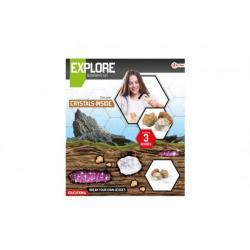 Obrázek Sada geodů/kamenů vědecká hra s lupou v krabici 27x31x7cm