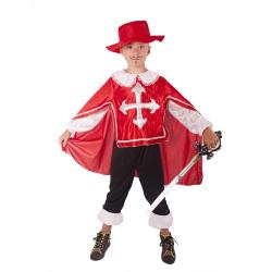 Obrázek kostým mušketýr červený vel. S
