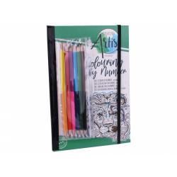 Obrázek Omalovánky s oboustrannými pastelkami