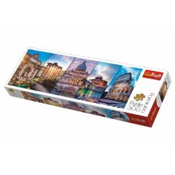 Obrázek Puzzle Koláž památky Itálie panorama 500 dílků 66x23,7cm