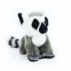Obrázek plyšový lemur sedící, 18 cm