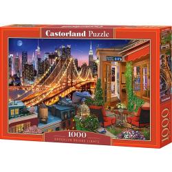 Obrázek Puzzle Castorland 1000 dílků - Světla Brooklinského mostu