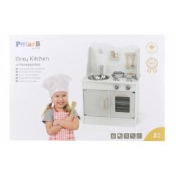 Obrázek Dřevěná kuchyňka šedá