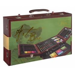 Obrázek Umělecký kufřík dřevěný naplněný