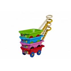 Obrázek Vozík/Vlečka dětská plast 45x28x16cm - různé druhy