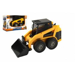 Obrázek Stavební stroj nakladač plast 23cm na setrvačník v krabici 25x16x11cm