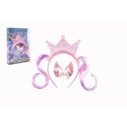Obrázek Sada krásy princezna čelenka s příčeskem + sponka do vlasů plast v krabičce 17,5x25x4cm