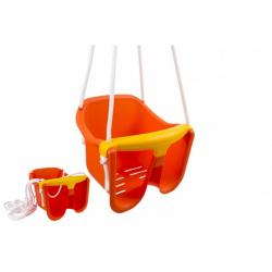 Obrázek Houpačka Baby oranžová plast 33x30x28cm nosnost 25kg v síťce 12m+
