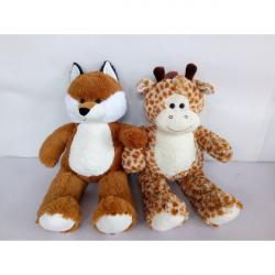 Obrázek Zvířata plyšová (žirafa, liška) 80cm