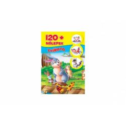 Obrázek Knížka se samolepkami 120+ Zvířata CZ verze 21x30cm