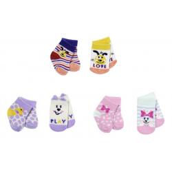 Obrázek BABY born Ponožky (2 páry) 3 druhy 43 cm - 3 druhy