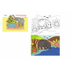 Obrázek Omalovánky zvířátkové Vítejte na safari 21x15cm