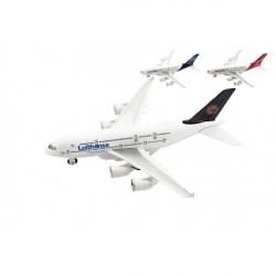 Obrázek Letadlo kov/plast 22cm na volný chod 3 druhy 6ks v boxu