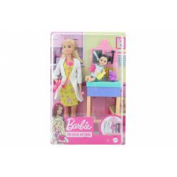 Obrázek Barbie Povolání herní set dětská doktorka blondýna GTN51