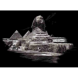 Obrázek Seškrabovací obrázek- Sfinga pyramida