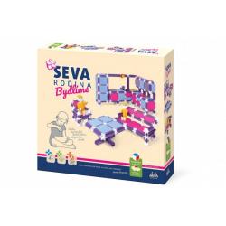 Obrázek Stavebnice SEVA RODINA Bydlíme plast 564ks v krabici 35x33x7cm