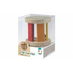 Obrázek Chrastítko s kuličkou dřevěné Wooden Toys  10x7x7cm 6m+
