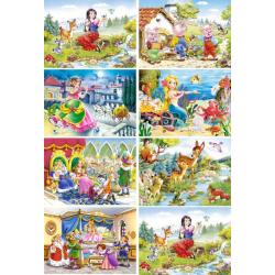 Obrázek Minipuzzle 120d. - Pohádky 2 , mix obrázků 8ks v balení