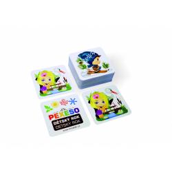 Obrázek Pexeso dětský rok voděodolné 64 karet v plechové krabičce 6x6x4cm Hmaťák