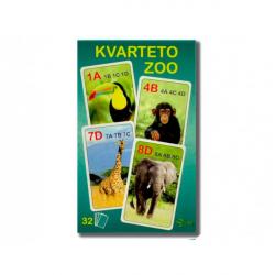 Obrázek Kvarteto ZOO 7x10,5x1,5cm 32ks