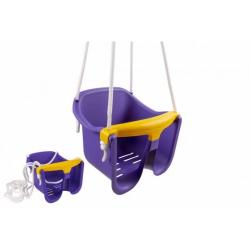 Obrázek Houpačka Baby fialová plast 33x30x28cm nosnost 25kg v síťce 12m+