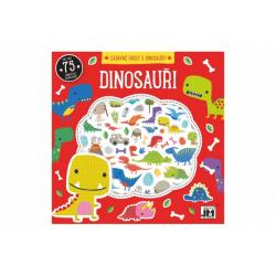 Obrázek Zábavné úkoly s dinousaury s pěnovými samolepkami 20x20cm