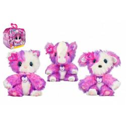 Obrázek Zvířátko FUR BALLS plyš Touláček pejsek/kočička/poník růžový s doplňky v krabici 24x20x10cm