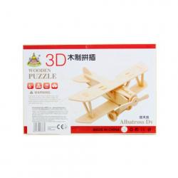Obrázek Puzzle dřevěné 3D Letadlo