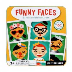 Obrázek Petitcollage Magnetické puzzle Veselé tváře