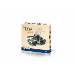 Obrázek Stavebnice Seva Armáda Bojová vozidla plast 436 dílků v krabici 35x33x5cm