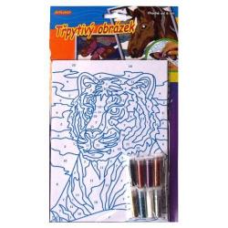 Obrázek Třpytivý obrázek- tygr