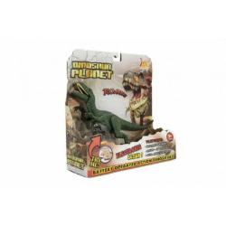 Obrázek Dinosaurus plast 26cm na baterie se zvukem se světlem 2 druhy v krabici 24x25x9cm