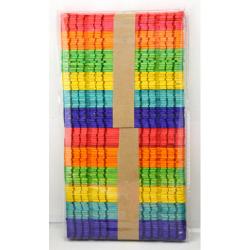 Obrázek Farebná drievka s výrezmi, 100 ks mix farieb