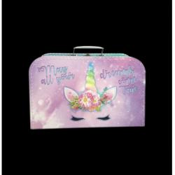Obrázek Kufřík Jednorožec růžovo/fialový 35 cm